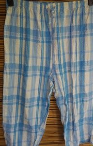 Blue White Plaid Lounge Capris Sz XL Plus